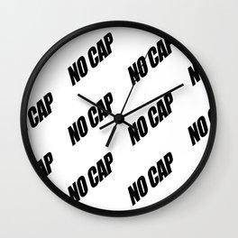 NO CAP Black Minimal Pattern Wall Clock