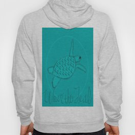 Wear the Teal Ovarian Cancer Awareness Sea Turtle Hoody