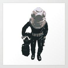 Scuba Diver Art Print