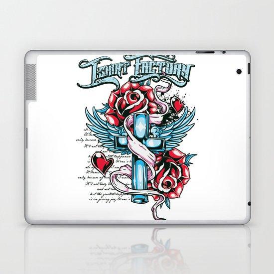 Cross roses Laptop & iPad Skin