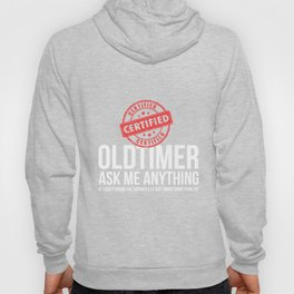 Certified Old Timer Funny Alcoholics Anonymous AA Tshirt Hoody