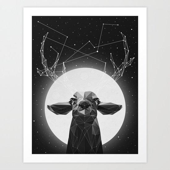 The Banyan Deer Art Print