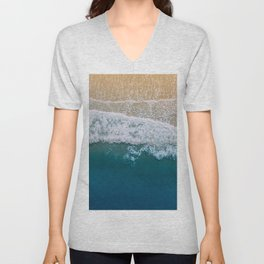 Water on the Beach (Color) Unisex V-Neck