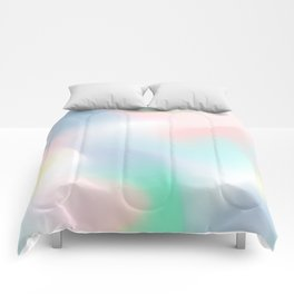 Rainbow Abstract (Soft Pastel) Comforters