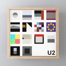 Minimalist U2's History - White Framed Mini Art Print