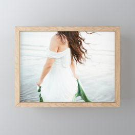 Blurry but perfect | Young woman dancing on the beach | Wanderlust people photography Framed Mini Art Print