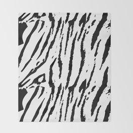 Black & White Animal Stripes Throw Blanket