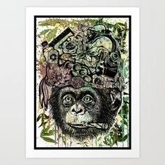 Ape's prank Art Print