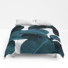 Indigo Plant Leaves Comforters