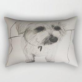 My Dog Mulligan Rectangular Pillow