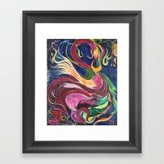 Flower Flamingo Framed Art Print