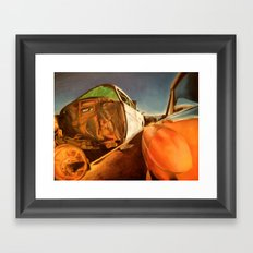 When you rust I will shine  Framed Art Print