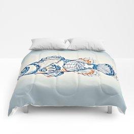 BLUE FISH Digital Painting Comforters