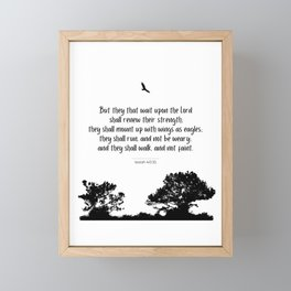 Mount up with wings as eagles Framed Mini Art Print