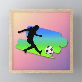 The Football game Framed Mini Art Print