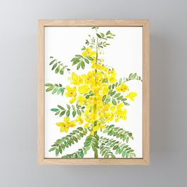 yellow scramble egg tree flower Framed Mini Art Print