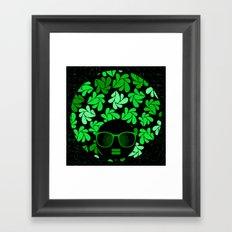 Afro Diva : Green & Black Framed Art Print