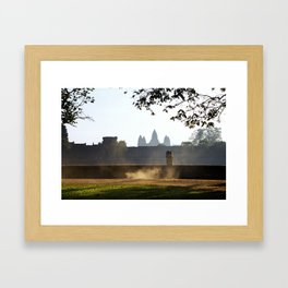 Angkor Wat - The everyday life Framed Art Print