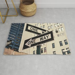 One Way New York Sidewalk Rug