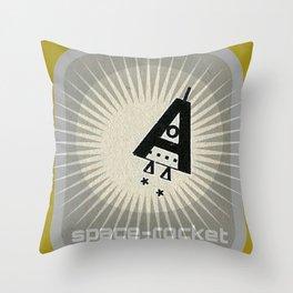 SPACE ROCKET  Throw Pillow
