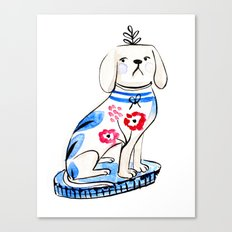 Fancy Little Dog  Canvas Print