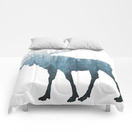 Misty Forest Moose Comforters