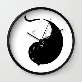 Yin Yang Kittens Wall Clock