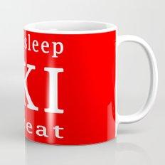 eat sleep ski repeat Mug