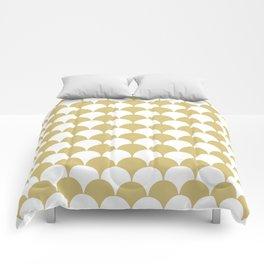 Fan Pattern 321 Gold Comforters