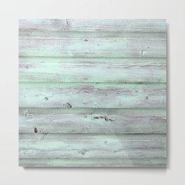 Green Barn Wood Metal Print