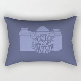 What Did You See in that Park? -Blow-Up Rectangular Pillow