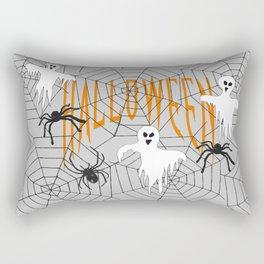 Ghost Halloween Spider Rectangular Pillow