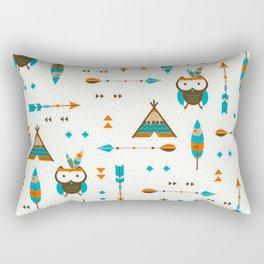 Southwest Boho Owls Rectangular Pillow