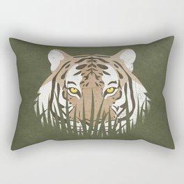 Hiding Tiger Rectangular Pillow