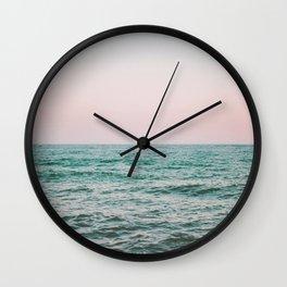 blush ocean Wall Clock