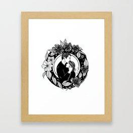 "Inktober, Day 13 ""Guarded"" #inktober #inktober2018 Framed Art Print"