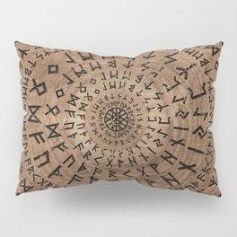 Elder Futhark Circular Composition Pillow Sham