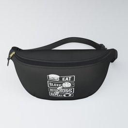Eat Sleep Motocross Repeat - Motorcycle Motorsport Fanny Pack