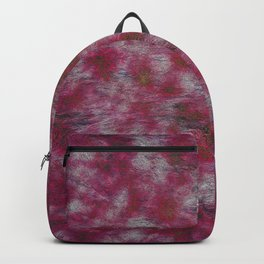 Abstract modern pink gray black watercolor paint pattern Backpack