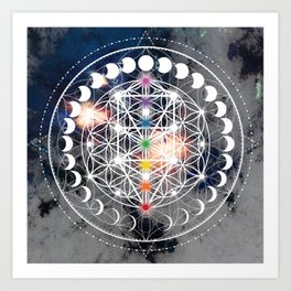 We Are Beings Of Light Art Print