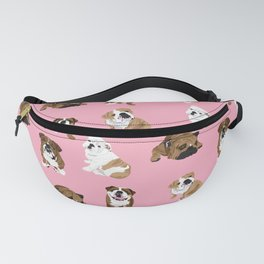Bulldogs on pink Fanny Pack