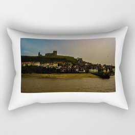 Whitby harbor from the breakwater Rectangular Pillow