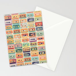 Retro 90s Mixtapes Stationery Cards