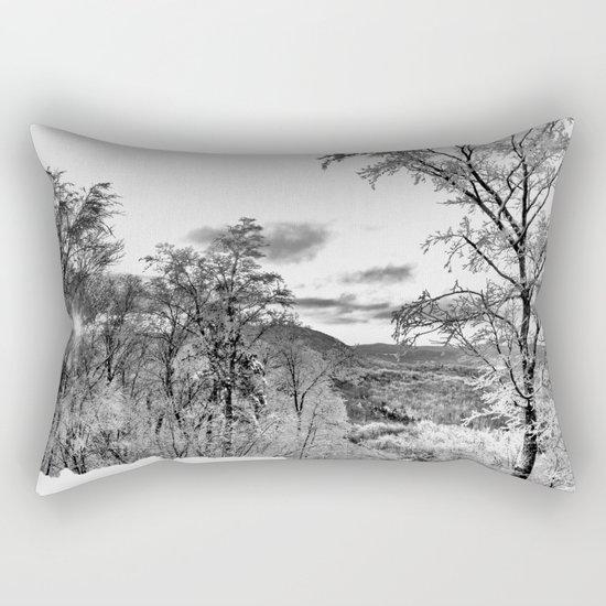 Vermont Winter Landscape Rectangular Pillow