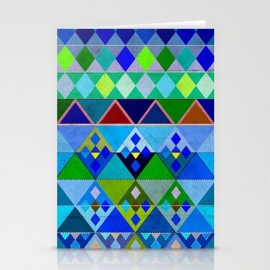 Cobalt Blue Diamond pattern Stationery Cards