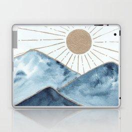 Indigo & gold landscape 1 Laptop & iPad Skin