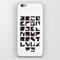 alphabet iPhone & iPod Skins featuring Alphabet by Fanny Öqvist Westerberg