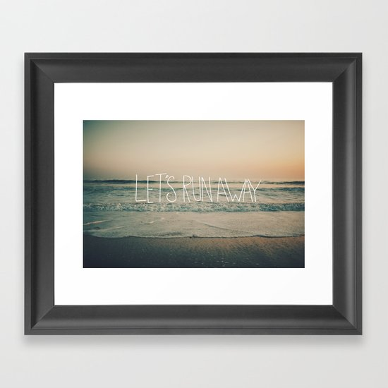 Let's Run Away by Laura Ruth and Leah Flores Framed Art Print