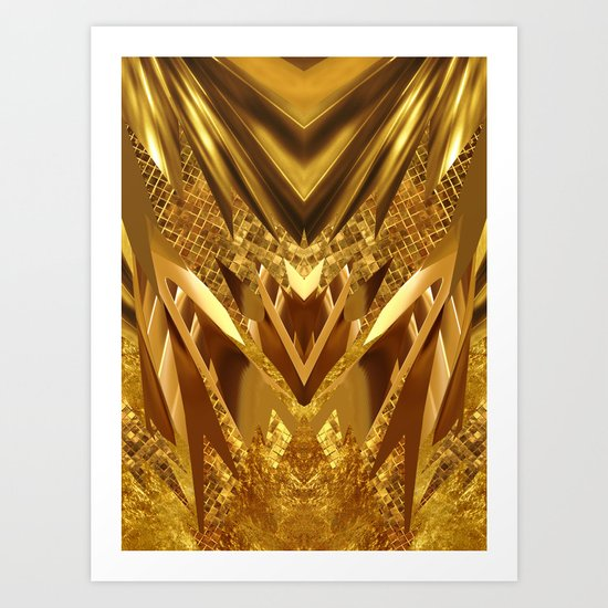 DRAGON'S GOLD Art Print