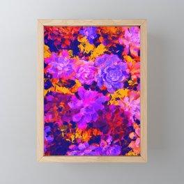 Succulents and Flowers Framed Mini Art Print